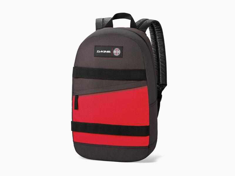 Dakine – studentský, školní a skate batoh na záda, šedo-červený | Manual – 20 l – Independent