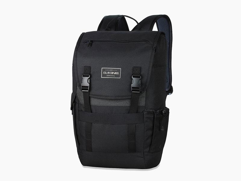 Dakine – studentský, školní a skate batoh na záda, černý | Ledge 25 l – Black