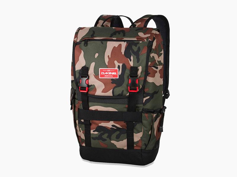Dakine – studentský, školní a skate batoh na záda, maskáčový | Ledge 25 l – Camo