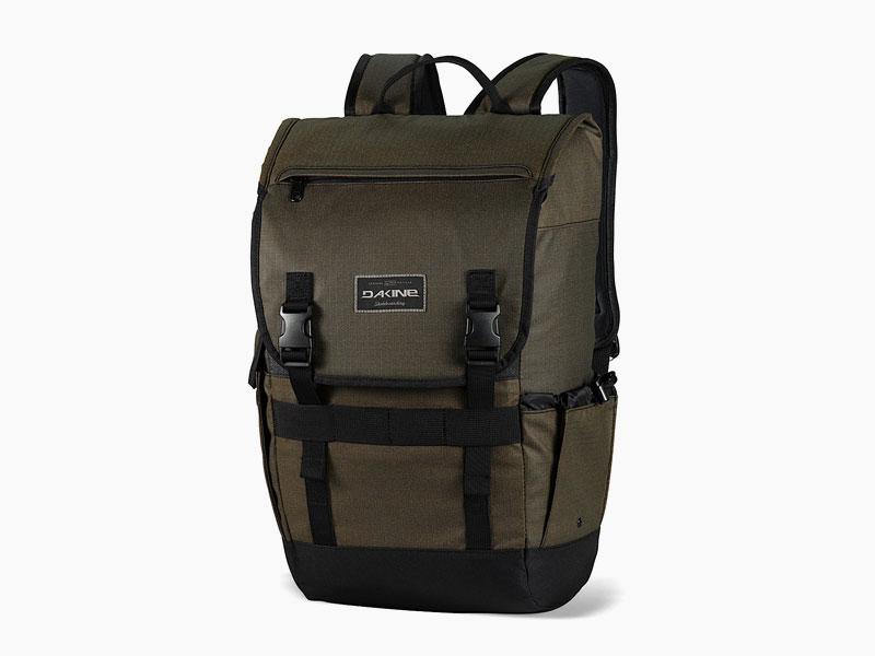 Dakine – studentský, školní a skate batoh na záda, zeleno-hnědý | Ledge 25 l – Pyrite