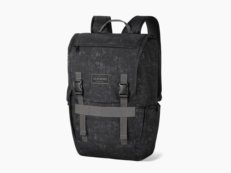 Dakine – studentský, školní a skate batoh na záda, černý se vzorem | Ledge 25 l – Ash
