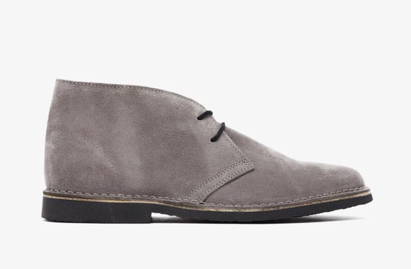Desert Boots, pánské pouštní kotníkové boty – kožené, šedé