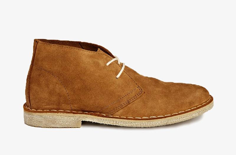Desert Boots, pánské pouštní kotníkové boty – kožené, hnědé