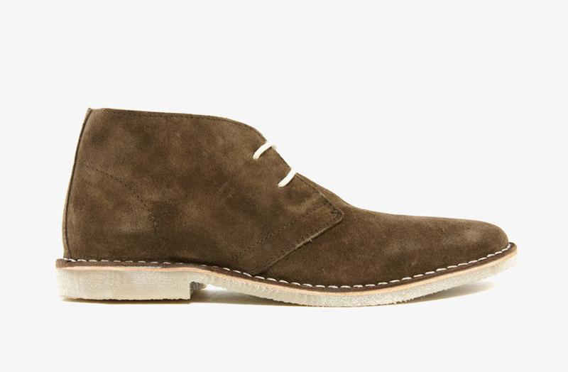 Desert Boots, pánské pouštní kotníkové boty – kožené, khaki