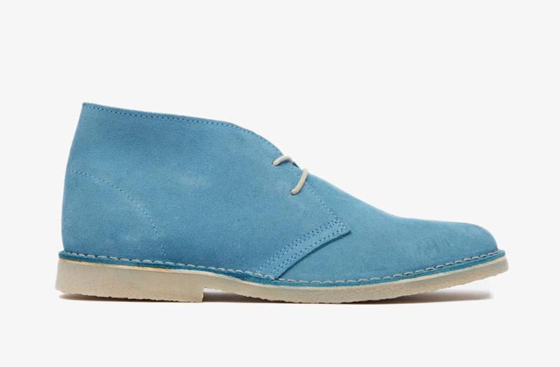 Desert Boots, pánské pouštní kotníkové boty – kožené, modré
