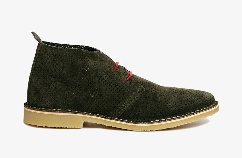 Desert Boots, pánské pouštní kotníkové boty – kožené, tmavě šedé, černé