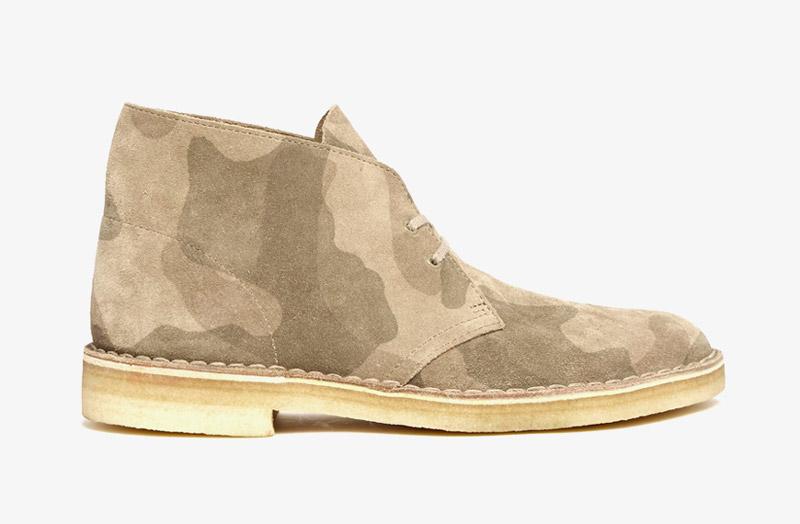 Desert Boots, pánské pouštní kotníkové boty – kožené, maskáčové