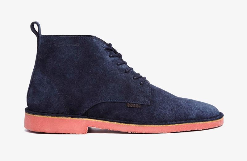 Desert Boots, pánské pouštní kotníkové boty – kožené, tmavě modré