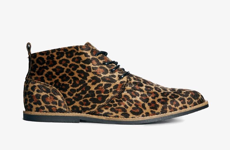 Desert Boots, pánské pouštní kotníkové boty – kožené, leopardí, gepardí