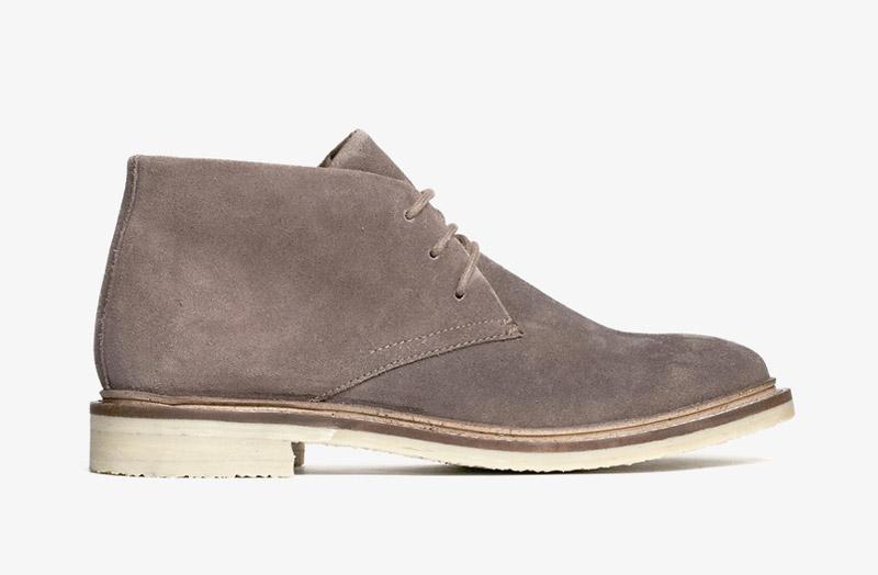 Desert Boots, dámské pouštní kotníkové boty – kožené, šedé