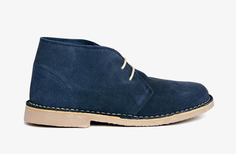 Desert Boots, dámské pouštní kotníkové boty – kožené, tmavě modré