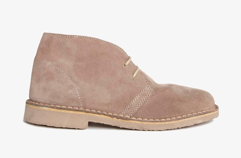 Desert Boots, dámské pouštní kotníkové boty – kožené, světle hnědé