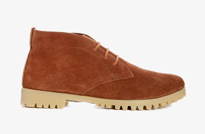 Desert Boots, dámské pouštní kotníkové boty – kožené, hnědé