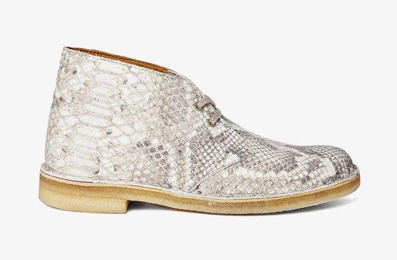 Desert Boots, dámské pouštní kotníkové boty – kožené, hadí motiv