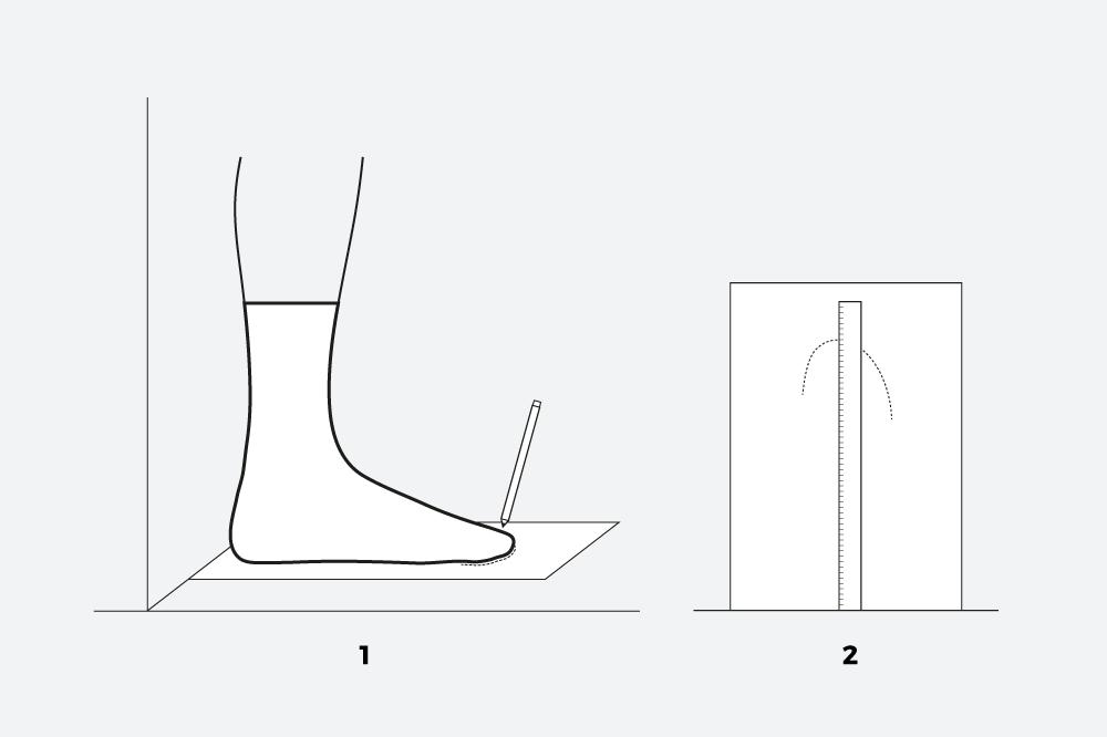 Návod pro měření velikosti pantoflí adidas Originals Adilette
