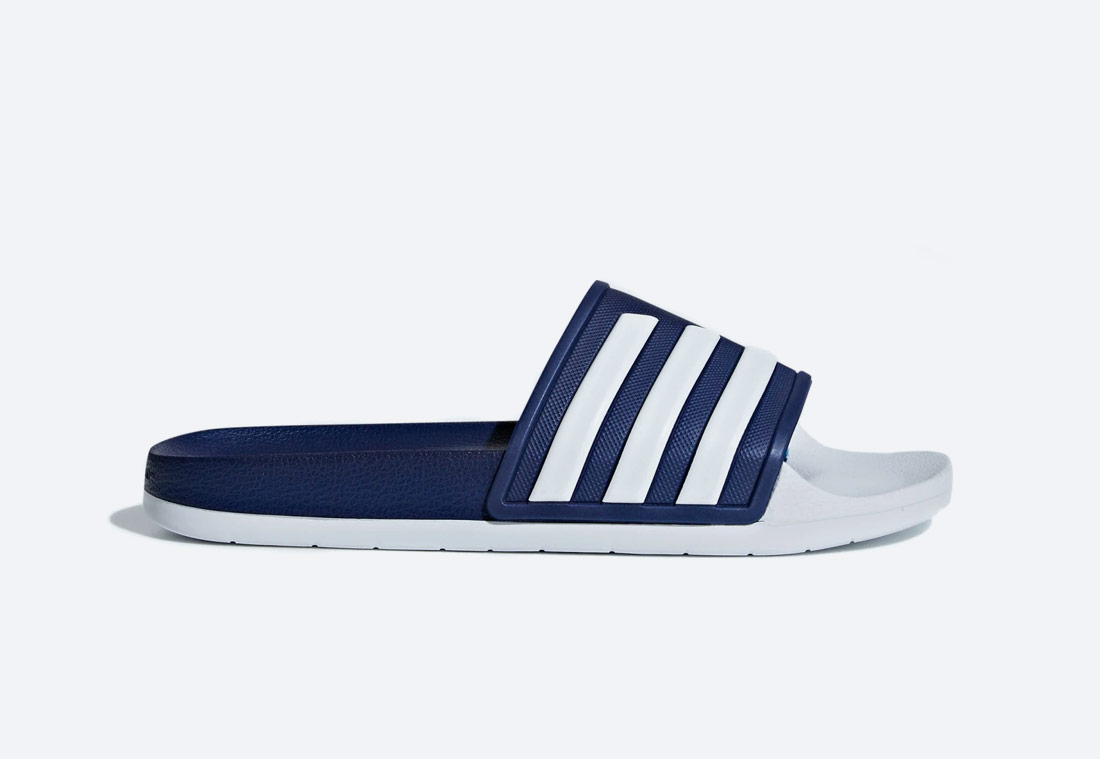 adidas Originals Adilette TND Essentials — pánské, dámské — pantofle — bílo-modré — nazouváky — slides