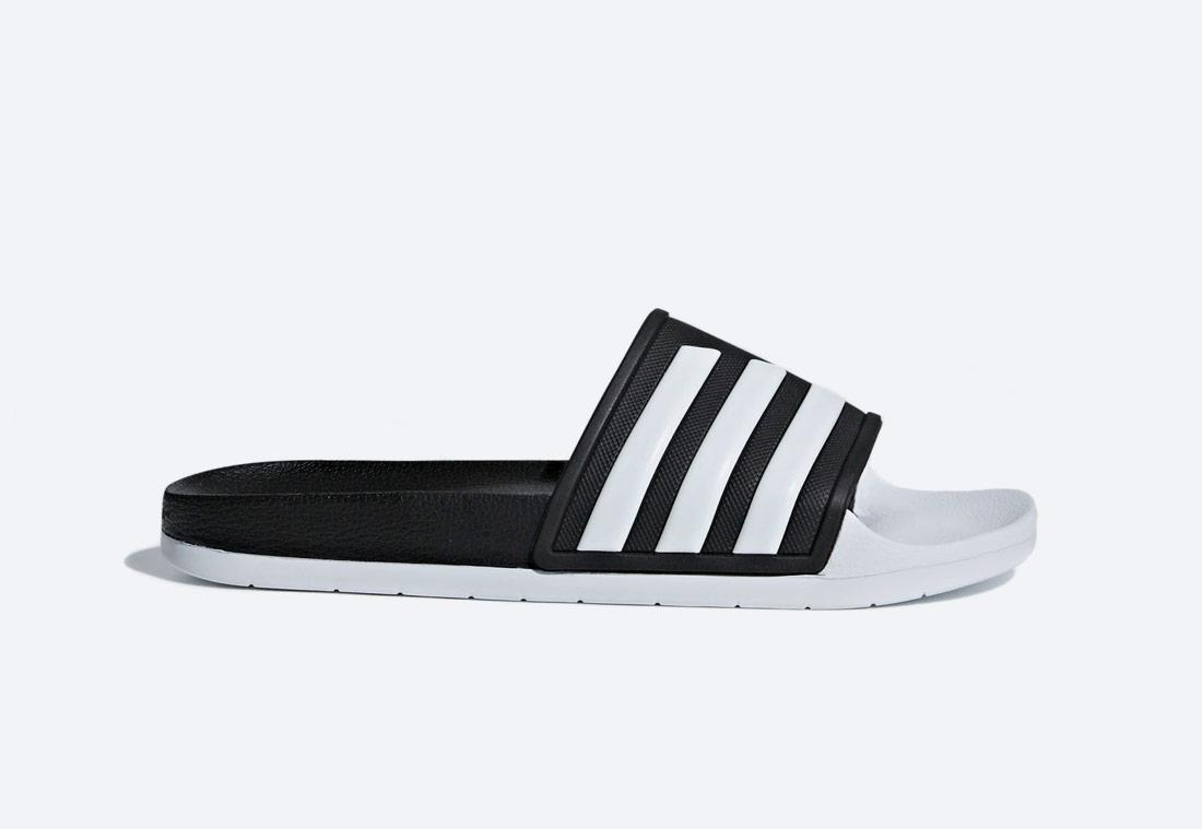 adidas Originals Adilette TND Essentials — pánské, dámské — pantofle — bílo-černé — nazouváky — slides