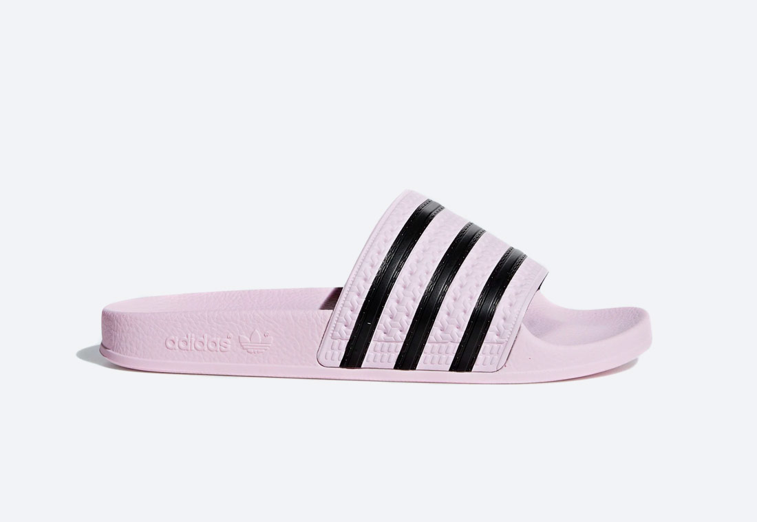 adidas Originals Adilette — pantofle — dámské — růžové — nazouváky — slides