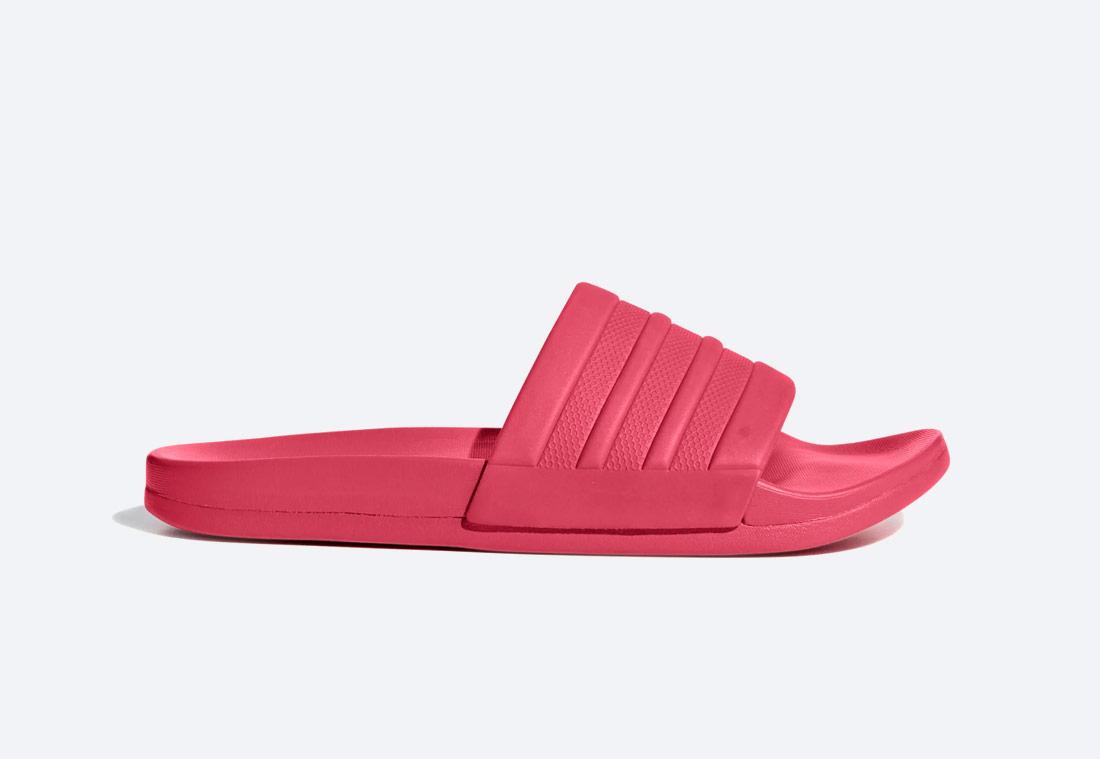 adidas Originals Adilette Cloudfoam Plus Mono Essentials — pantofle — dámské — růžové — nazouváky — slides