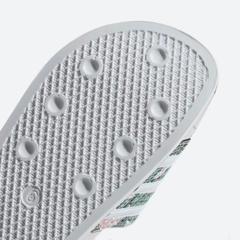 adidas Originals Adilette — pantofle — nazouváky — růžové, barevné — dámské — slides — podrážka